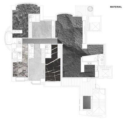 Gründris- Naturstein Schema vom  Home in Black Serenity