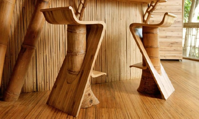 moderne Hocker aus Bambus