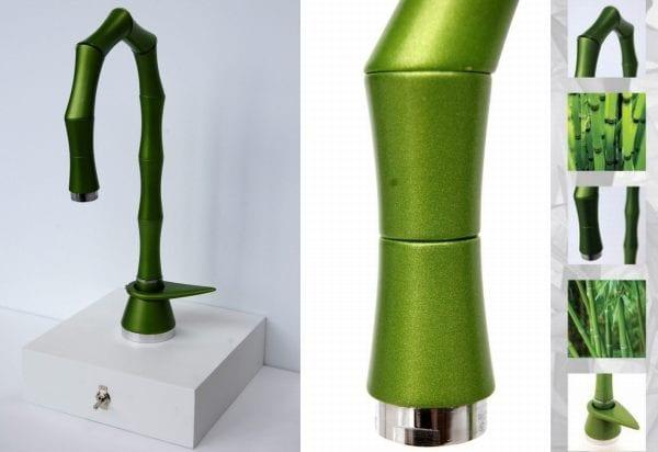 Wasserhahn in Form von Bambus