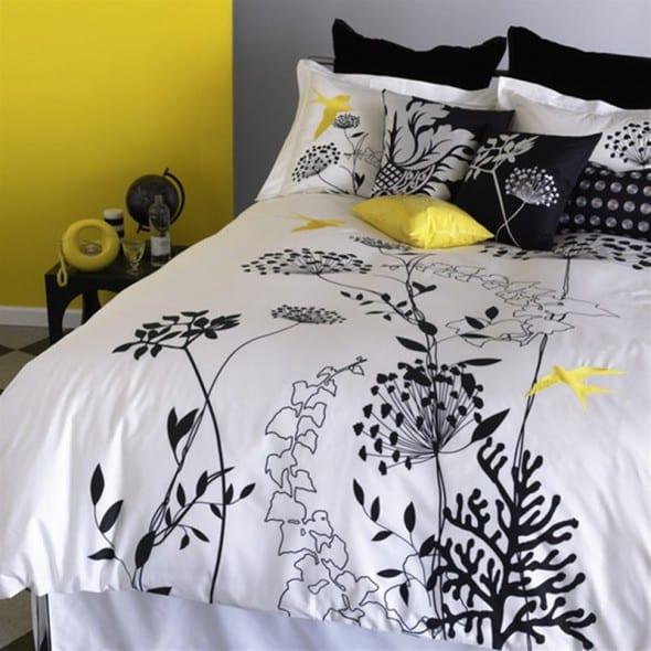 schlafzimmer in gelb - schlafzimmer einrichten