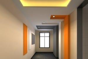 wandstreichen idee in orange und grau