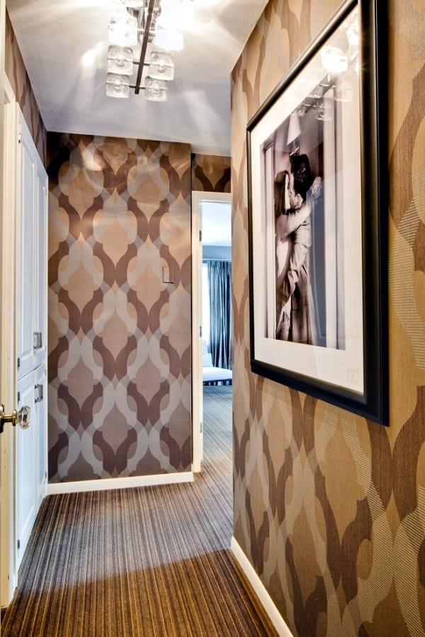 Wandgestaltung mit Tapeten - flur gestaltungs idee