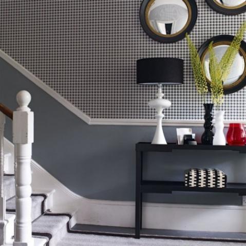 Farbgestaltung Wohnen - kreative wandgestaltung-Wandtapete