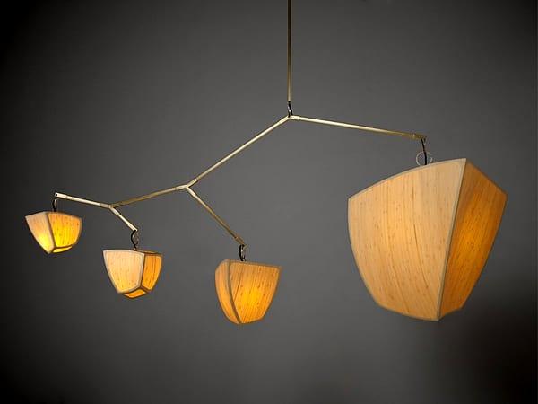 moderne bambusmäbel-deckenleuchte  aus bambus