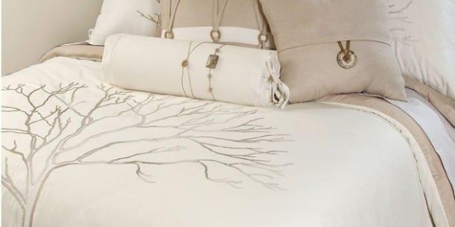 Weiße Bettwäsche Mit Baummotiv