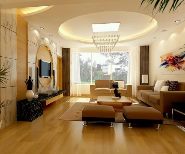 parkettboden mit Marmor Wandfliesen-gardinen braun- seats and sofas