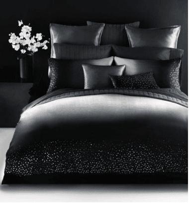 luxus bettwäsche in schwarz