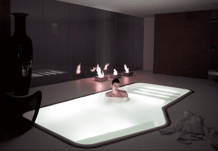 luxus badezimmer mit pool von kas