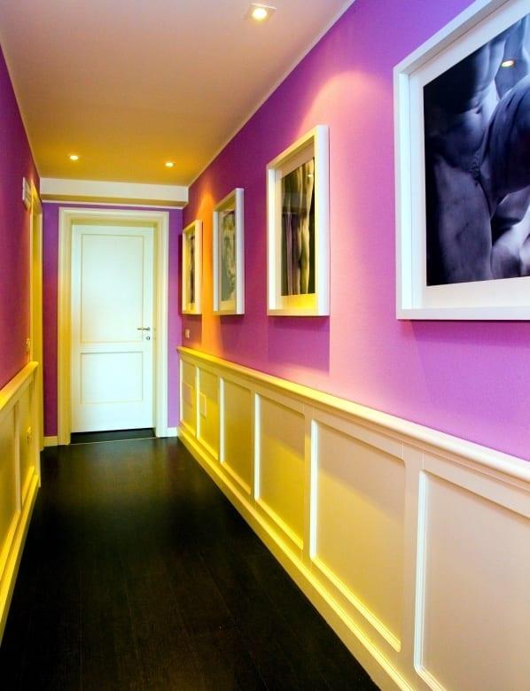 Farbgestaltung wohnung - Flur Einrichtungsidee