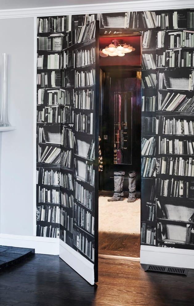 Ankleideraum- Wandgestaltung-Idee mit tapete