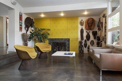 Farbgestaltung Wohnzimmer - Wand Dekoration- Kamin im Wohnzimmer