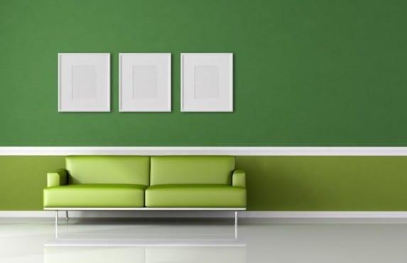 grau grünes wohnzimmer:wohnzimmer grün gestalten : Grün Wohnzimmer Wandfarbe Shaggy Teppich