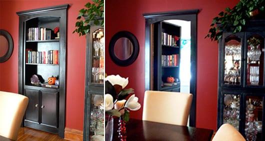 Wand streichidee - schwarzer eingebaute Wandschrank