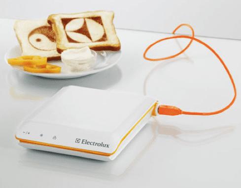 küche aktuell - moderne Küchengeräte- weißer USB Toaster