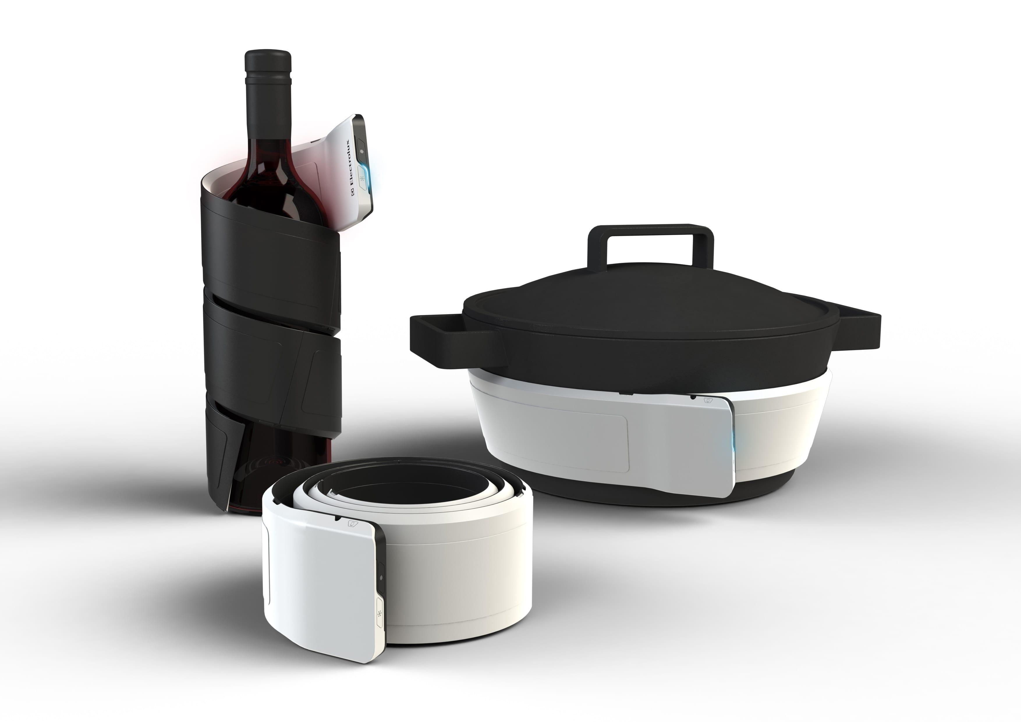 küche aktuell - innovation in der küche- Kühler in weiß und schwarz