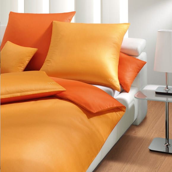 Bettwäsche in orange
