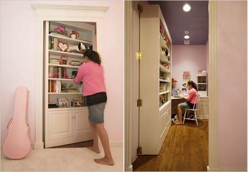 Kinderzimmmer gestatung mit Wandschrank-Geheimtür