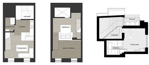 kleine loft wohnung manhattan micro loft von specht harpman freshouse. Black Bedroom Furniture Sets. Home Design Ideas