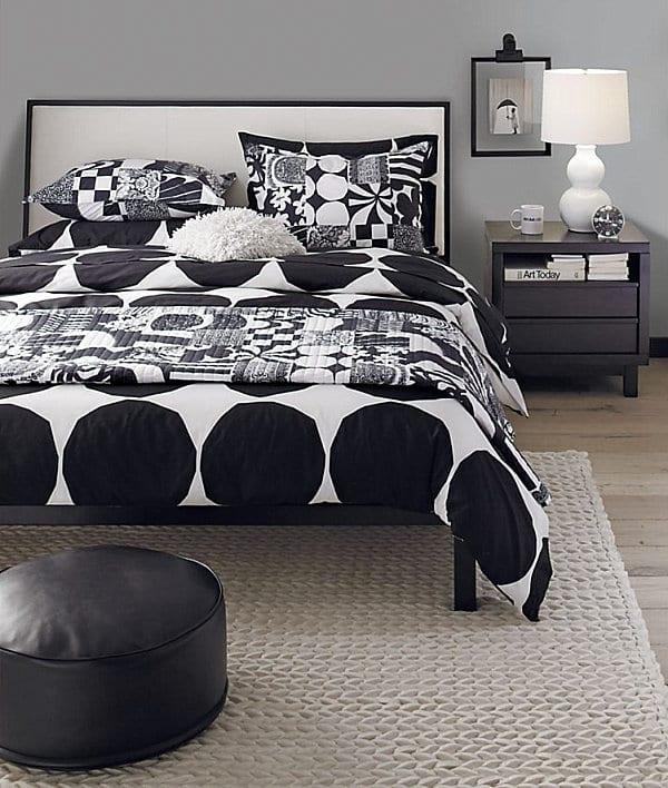 modernes Schlafzimmer in grau und schwarz- schlafzimmer Farbgestaltung