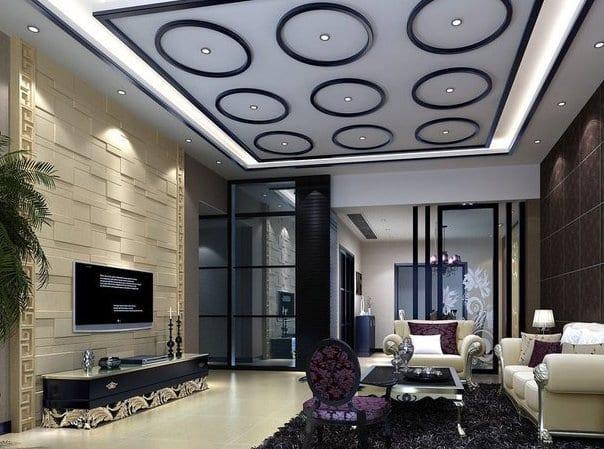 luxus wohnzimmer gestaltung weiß und schwarz