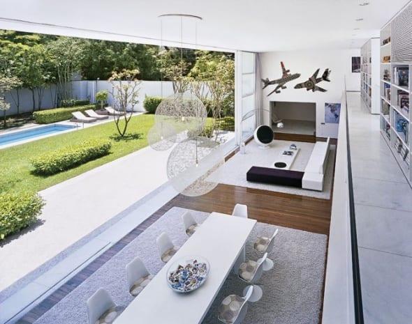minimalistische Gestaltungsidee für offene Hausfläche-großformatige schiebewand