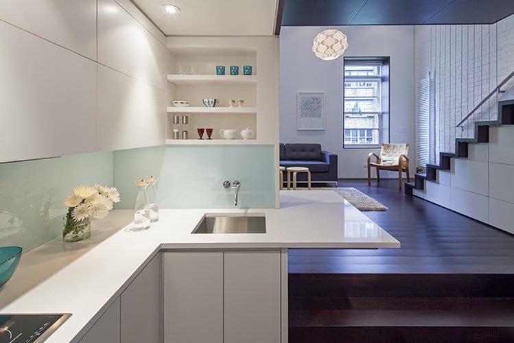 kleine Küche einrichten- Renovierung kleiner Wohnung