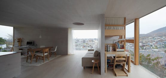 moderne Haus aus beton-offener Wohnraum gestaltung
