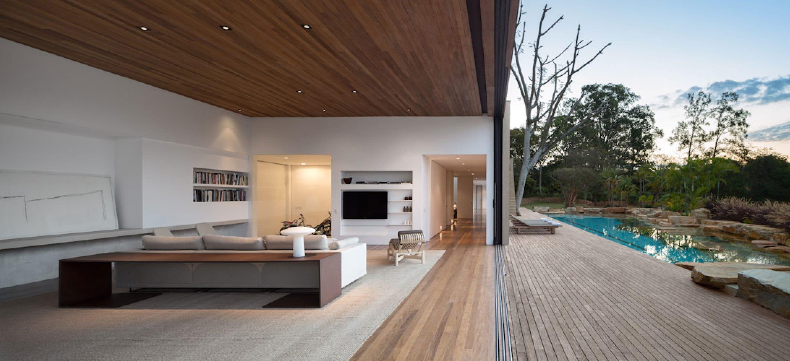 offener Wohnraum gestaltung-minimalistische Einrichtungsidee