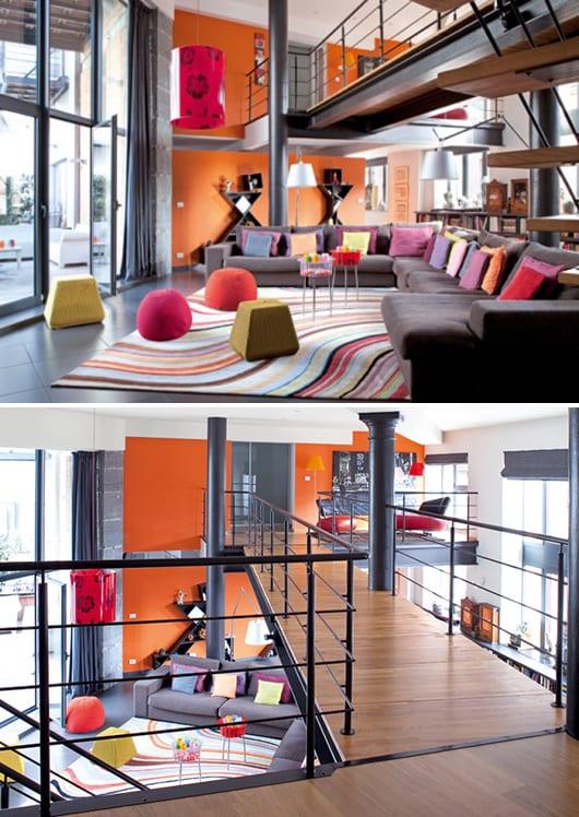 Mezzanine Gestaltung - schöner wohnen-wandfarb ideen