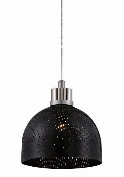 schwarze pendelleuchten höhenverstellbar aus metall in matt chrom