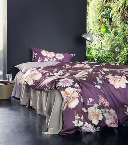 luxus bettwäsche - schlafzimmer gestaltungsidee- wand farbgestaltung