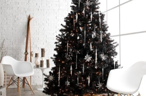 schwarzer weihnachtsbaum freshouse. Black Bedroom Furniture Sets. Home Design Ideas