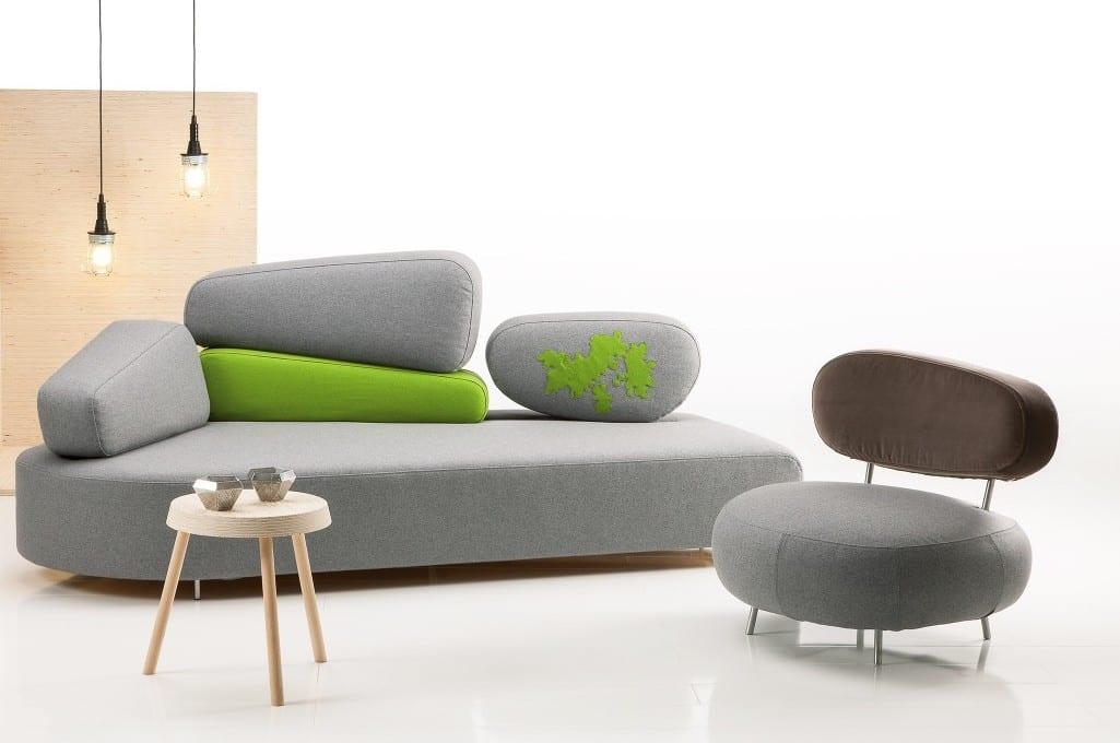 elegantes sofa design- sofa grau