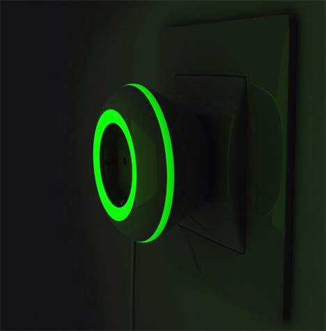 leuchtende steckdose - spinner