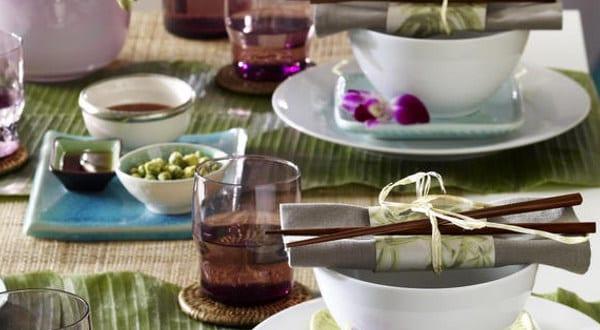 Tisch eindecken orchidee tischdecko freshouse - Wandfarbe orchidee ...