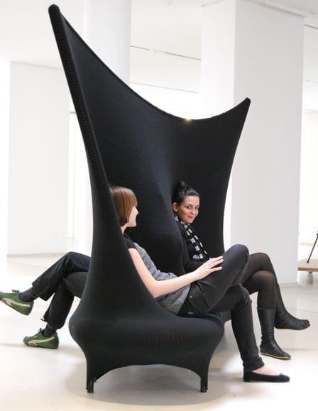moderne couch in schwarz