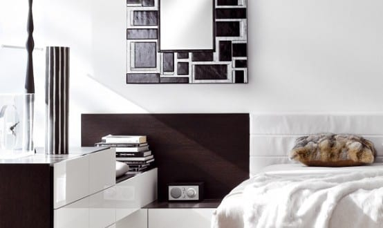wanddeko idee mit spiegel freshouse. Black Bedroom Furniture Sets. Home Design Ideas