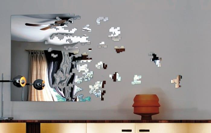 einzigartige wand dekoration mit spiegel