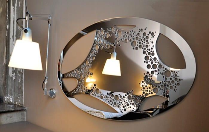 großartig moderne wohnzimmer spiegel and silber mit beleuchtung ... - Deko Wandspiegel Wohnzimmer