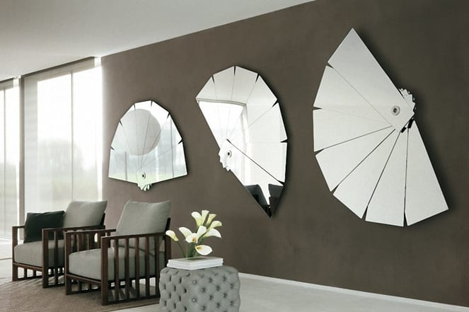 wohnzimmer ideen wandgestaltung grau wandgestaltung mit spiegeln optische raumerweiterung freshouse
