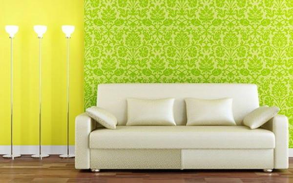 wandfarbgestaltung in gelb und grün
