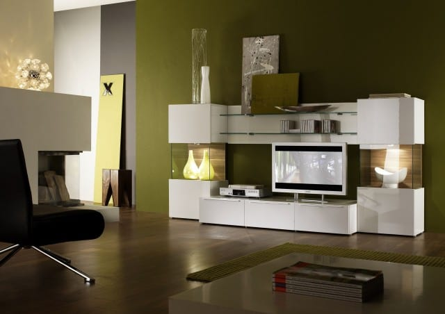 wandgestaltung gr n farbgestaltung wohnzimmer freshouse. Black Bedroom Furniture Sets. Home Design Ideas
