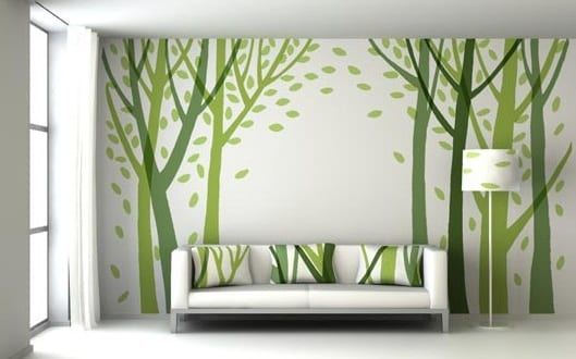 wandgestaltung grn moderne wandgestaltung - Moderne Wandgestaltung