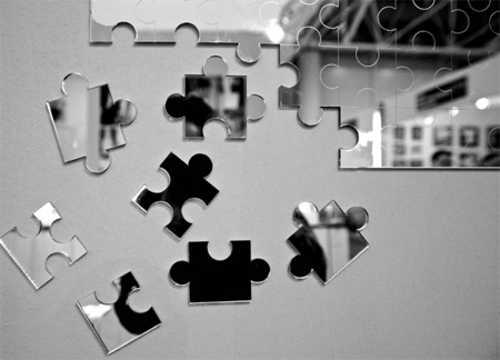 Wand deko idee mit puzzle