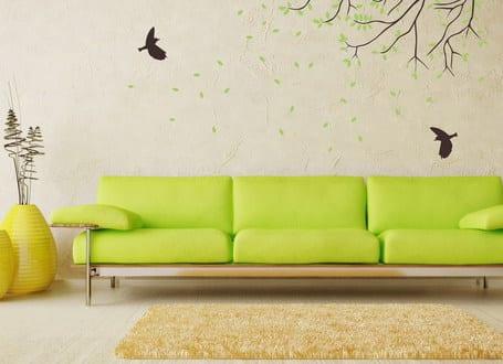 wandtattoo baum wohnzimmer einrichten freshouse. Black Bedroom Furniture Sets. Home Design Ideas
