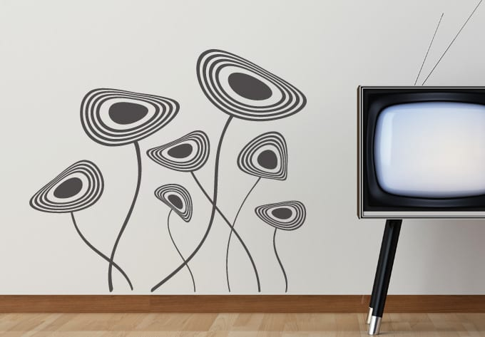 moderne wand dekoration - minimalistische wand gestaltung