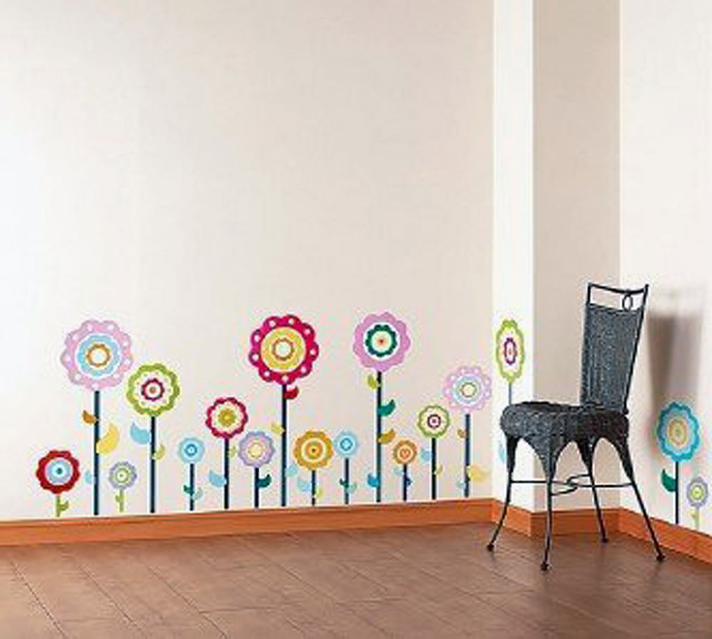 wandtattoo blumen kinderzimmer. Black Bedroom Furniture Sets. Home Design Ideas