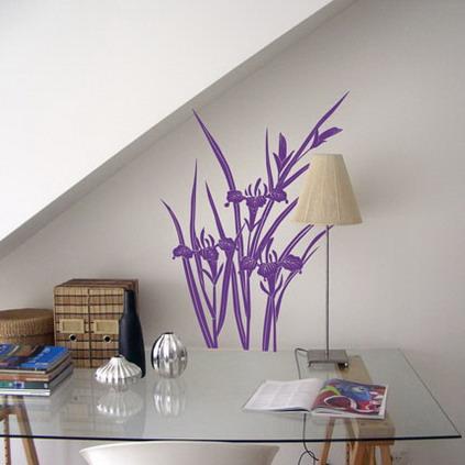 wohnraum einrichten- arbeitstisch aus glas - gestatungsidee