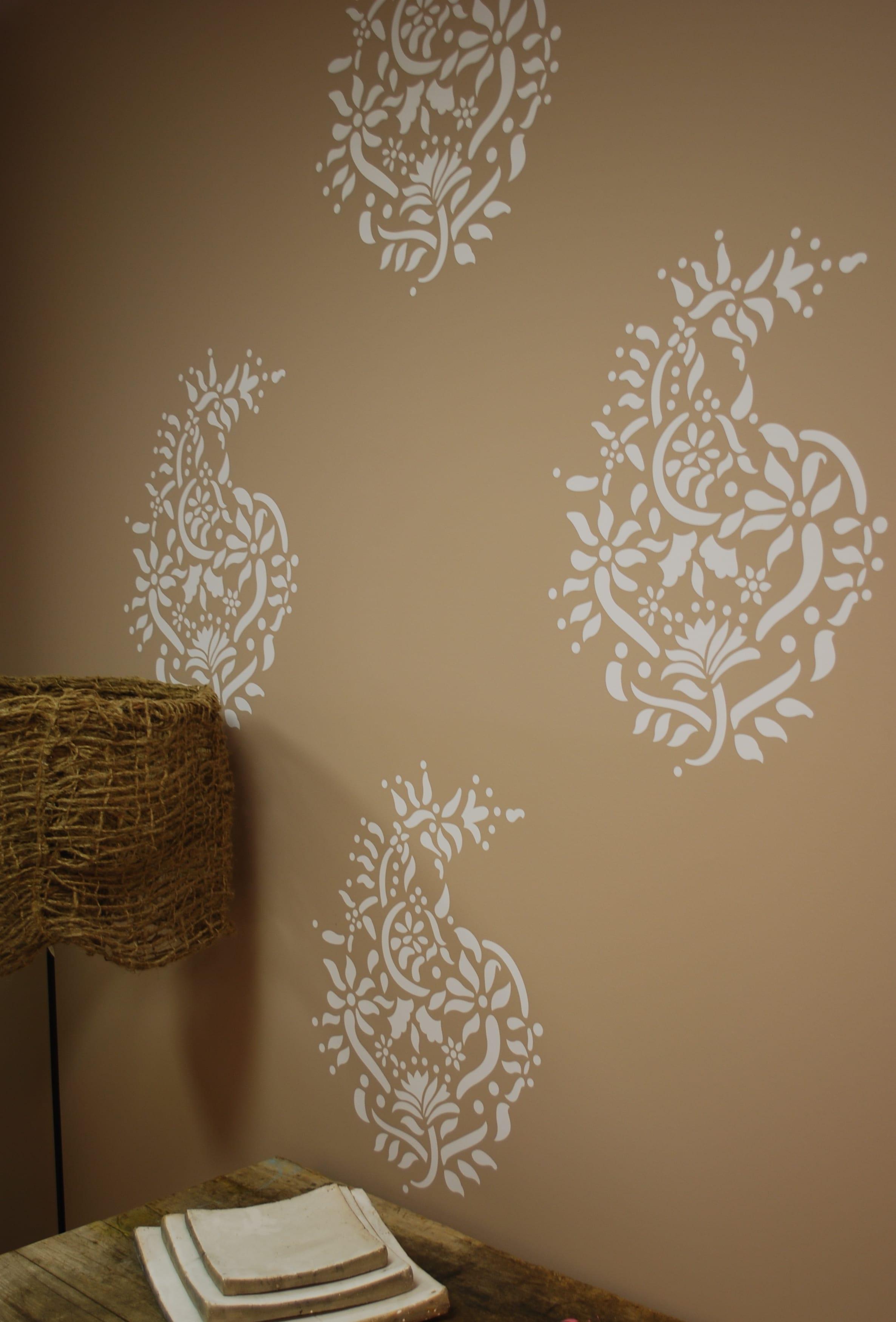 interessante wandtattoos schlafzimmer - wand farbgestaltung idee