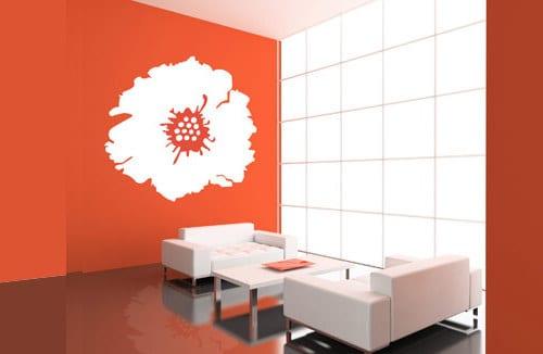 wohnzimmer farb idee - farbgestaltung idee- wandtattoos